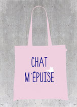 Sac tote bag chat m' epuise