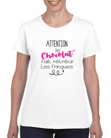 T-shirt pour femme qui aime le chocolat