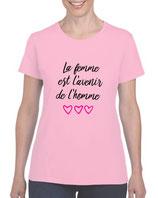 T-shirt la femme est l'avenir de l'homme