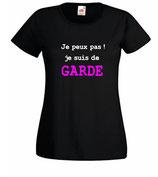 Tee-shirt femme de garde