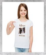 T-shirt Border collie pour femme et fille