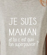 T-shirt maman super pouvoir