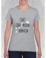 T-shirt femme chat ira mieux demain