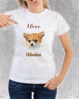 T-shirt chihuahua pour femme et fille