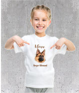 T-shirt Berger Allemand pour filles et pour femmes