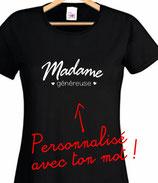 Tee-shirt femme généreuse