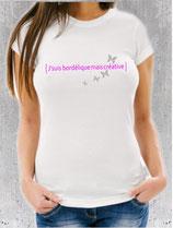T-shirt message pour une femme créative