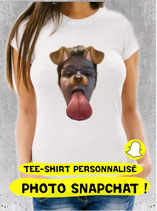 T-shirt avec photo snapchat