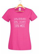 teeshirt amie 50 % chiante et 50 % adorable