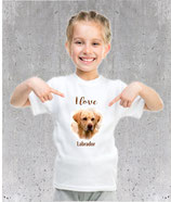 T-shirt labrador pour fille et femme