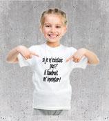 T-shirt humour pour fillette