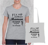 T-shirt et sac meilleure maman du monde