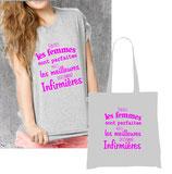 T-shirt et sac humoristique infirmiere