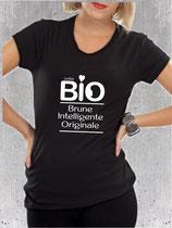 T-shirt cadeau maman brune