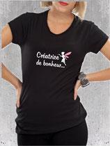 T-shirt créatrice de bonheur