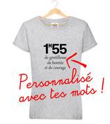 T-shirt taille à personnalisé