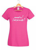 T-shirt femme j'suis pas un ange
