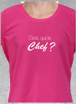 T-shirt c'est qu le chef ?