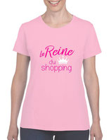 T-shirt reine du shopping