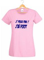 T-shirt fille foot féminin