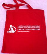 Stofftasche in rot mit Logo 40x36cm