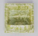 Seifenschale  2. Wahl  15x15 hellgrün/creme meliert glänzend Nr.162