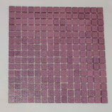 Soft Glas Glitter auf Netz  2x2cm helles Lila