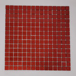 Soft Glas Glitter auf Netz  2x2cm Rot