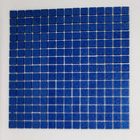 Soft Glas Glitter auf Netz  2x2cm Blau