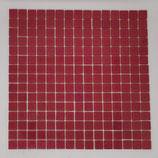 Soft Glas Glitter auf Netz  2x2cm Pink