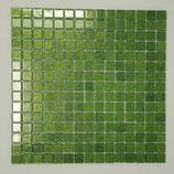Soft Glas Glitter auf Netz  2x2cm helles Grün