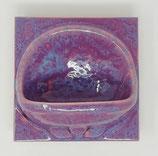 Seifenschale 15x15 lila/hellblau meliert glänzend Nr.164