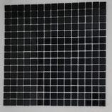 Soft Glas Glitter auf Netz  2x2cm Schwarz