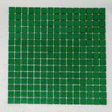 Soft Glas Glitter auf Netz  2x2cm dunkel Grün