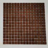 Soft Glas Glitter auf Netz  2x2cm Braun