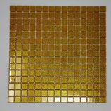 Soft Glas Glitter auf Netz  2x2cm Gold