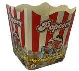 Faltbecher rot-weiss, für 2 L Popcorn