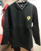 Ferrari Pulli V Kragen Schwarz