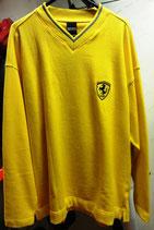 Ferrari Pulli V Kragen Gelb