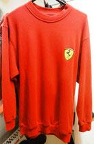 Ferrari Rundhals Fleecepulli Rot
