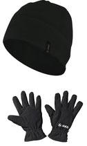neunzehn53-Fleecemütze und -Handschuhe im Paket