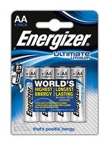4 Pilas Energizer Lithium