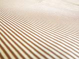 Jersey Streifen 95 % BW 5% Ela  Nougat und hellbraun  170 cm breit