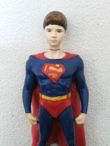 Supermanfigur mit Ihrem Gesicht in 3D