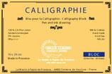 Bloc calligraphie