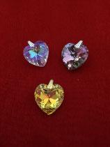 Kristallherz Anhänger klein