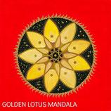 Golden Lotus Mandala Card