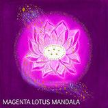 Magenta Lotus Mandala Card
