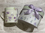 花のマグカップ(ギフトボックス付き)ラベンダーローズ