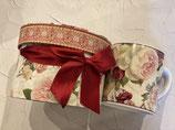 お花のマグカップ(ギフトボックス付き)ダマスクローズ